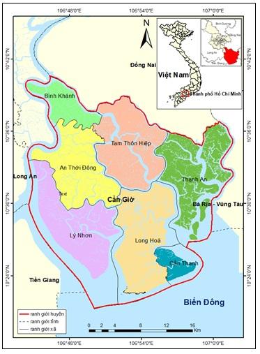 Figure 1  Bản đồ khu vực huyện Cần Giờ