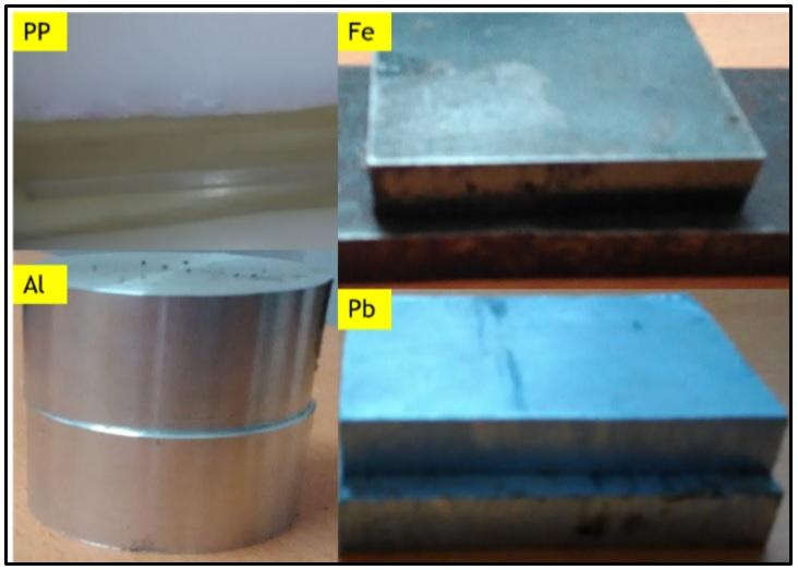Figure 4  Các bia chuyển đổi được chiếu xạ dưới máy gia tốc electron 10MeV UELR-10-15S2