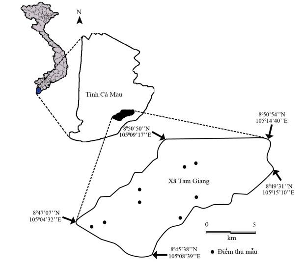 Figure 1  Bản đồ khu vực thu mẫu
