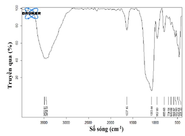 Figure 5  Giản đồ phân tích phổ hồng ngoại của Si